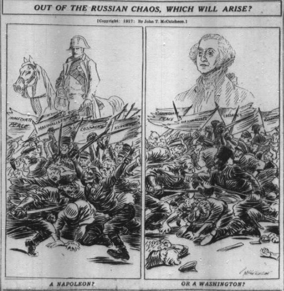 "Patrick Chovanec on Twitter: ""Nov 19, 1917 - Chicago Tribune asks: out of Russia's chaos, which will arise: Napoleon or Washington? (Or worse?) #100yearsago https://t.co/xlzZeQkxba"""