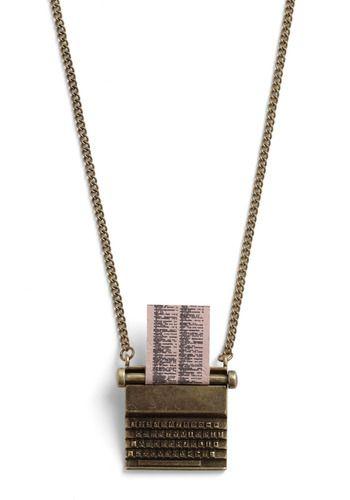 'Just My Typerwriter' Necklace. $29.99