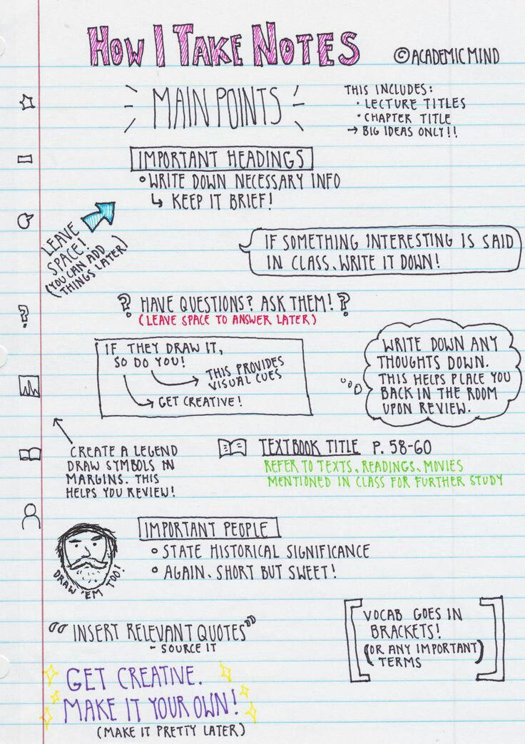 Aesthetic Note Taking Tips