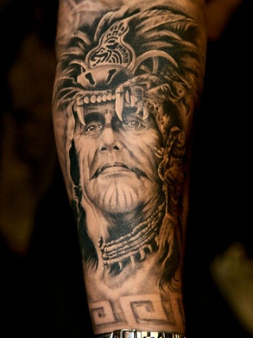 Haunting American Indian Tattoos Cool Tattoos For Guys