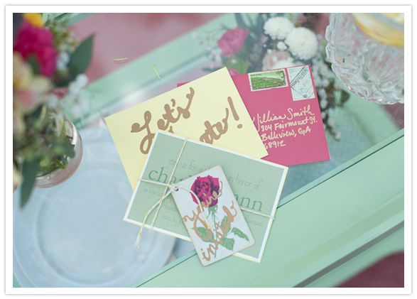 floral-themed bridal shower invites