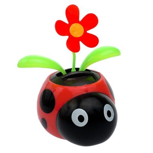 Bestseller Solar Dancing Flower Ladybug Pot 5 99 Flower Pots Solar Pot Designs