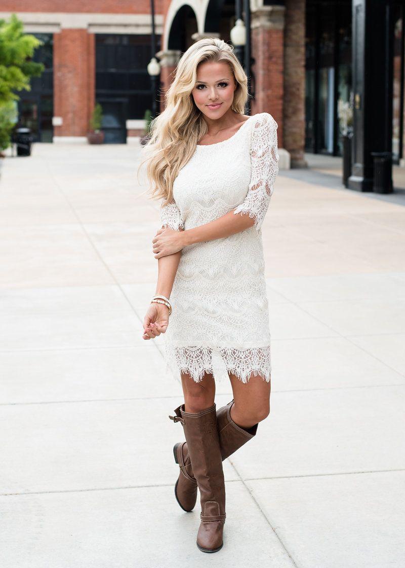 Lace dress wedding dress bridesmaid dress boutique online