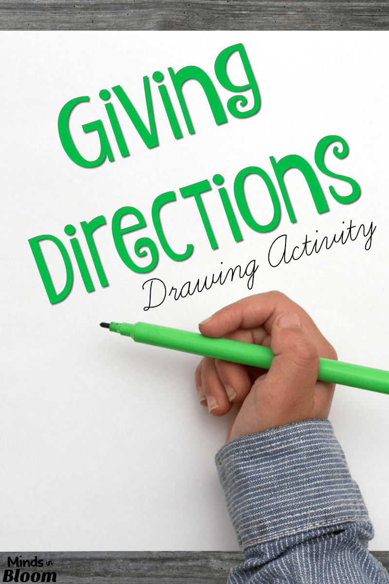 giving instructions drawing activity