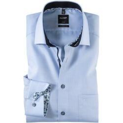 Olymp Luxor Hemd, modern fit, Global Kent, Bleu, 38 Olympolymp