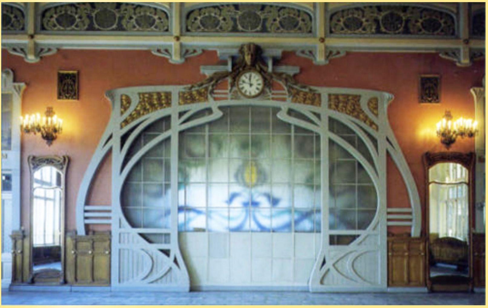 Wall Art nouveau | Art nouveau interiors | Pinterest