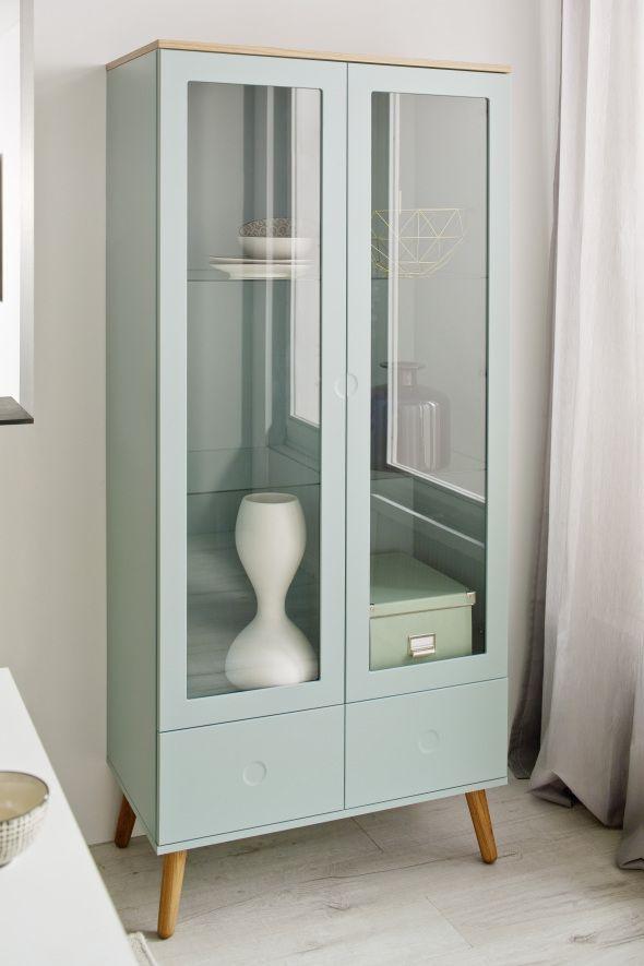 #Tenzo #Vitrinen   Skandinavisches Design   In Aktuellen Trendfarben  #skandichic #vitrine #wohnzimmer #aufbewahrung | Wohnzimmer | Pinterest