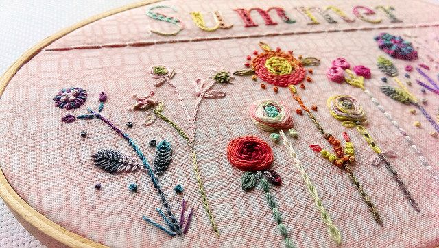 Free Floral Embroidery Pattern Embroidery Patterns Pinterest