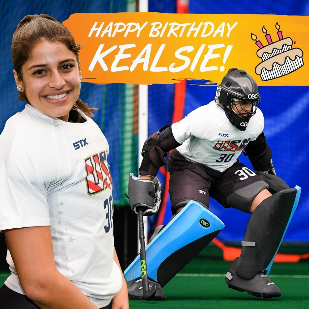 Happy Birthday To Kealsie Robles Have An Amazing Day Goalkeepersareamazingpeople Obolove Fieldhockeygo In 2020 Field Hockey Goalie Happy Birthday Team Usa