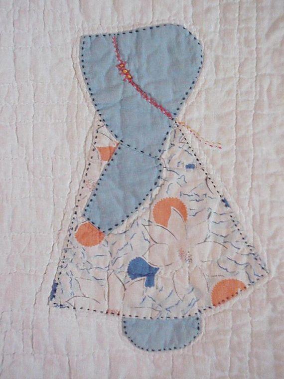 Sunbonnet Sue Quilt Block 1930s Vintage Prim Sun By