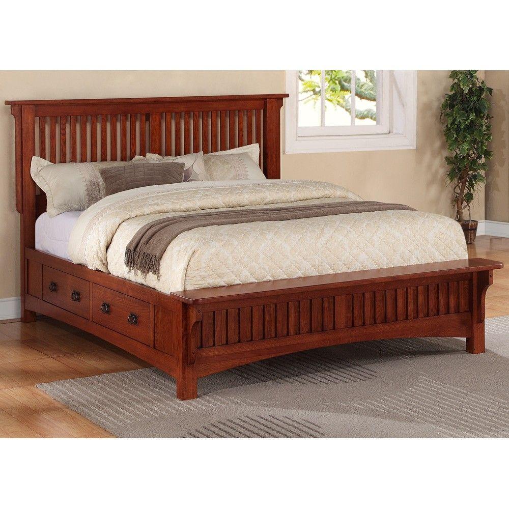 Mission Wood Platform Storage Bed In Mission Oak A Must Have For