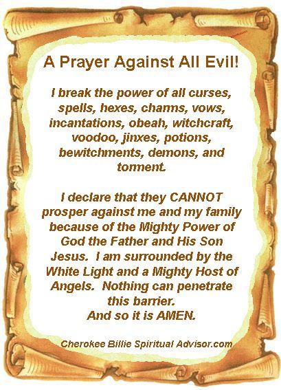 A Prayer Against All Evil!