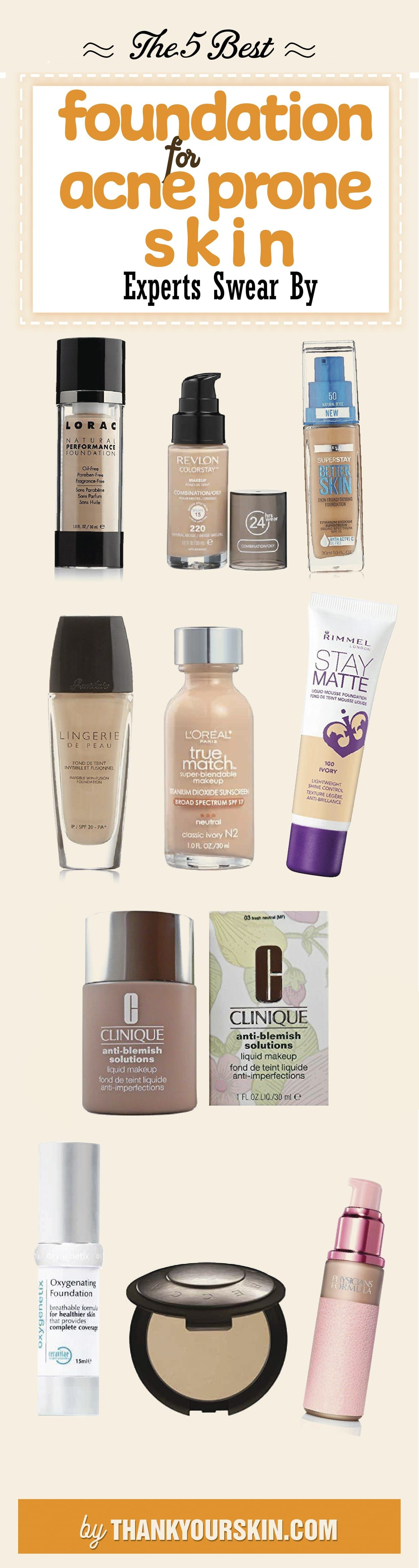 Best Foundation For Acne Prone Skin How To Apply Tips And Tricks Foundation Acnepronesk Best Foundation For Acne Acne Prone Skin Foundation For Oily Skin