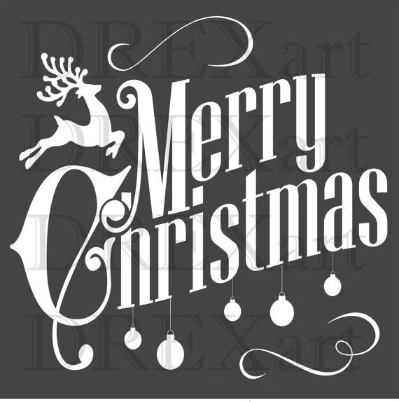 It is an image of Exceptional Merry Christmas Stencil Free Printable