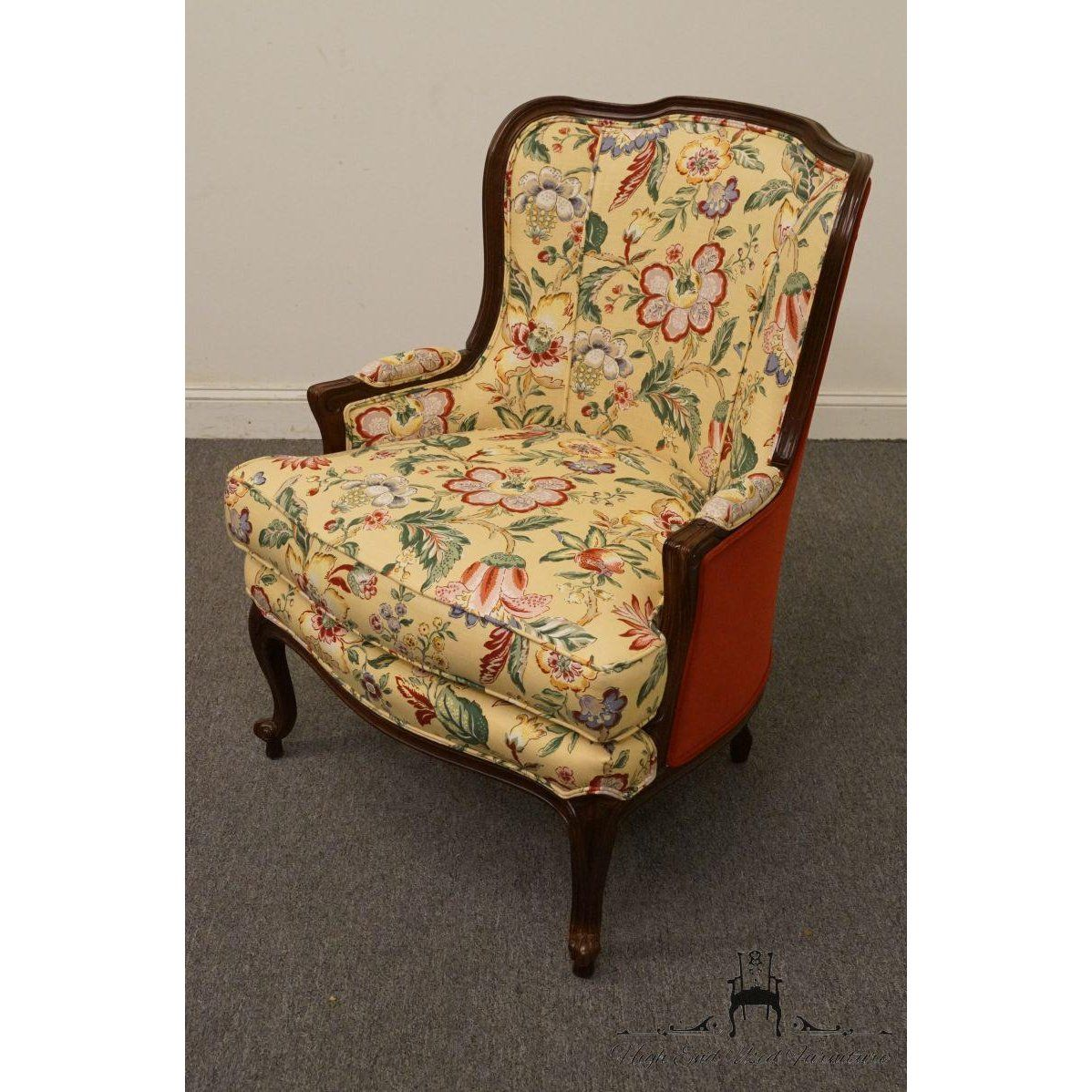 Ethan Allen 20th Century French Ethan Allen Wingback Accent Chair