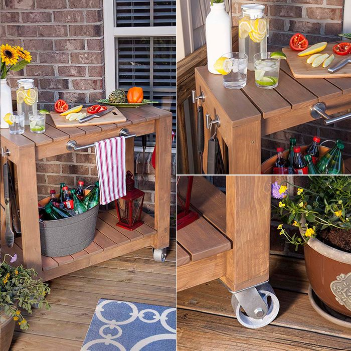 DIY rolling bar cart - free plans DIY Tutorials for Your Home