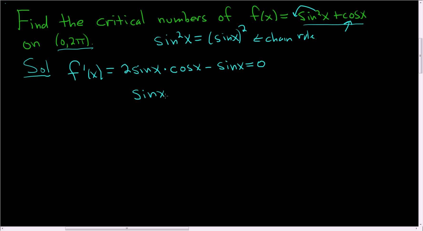 Finding critical numbers example 1 maths exam calculus