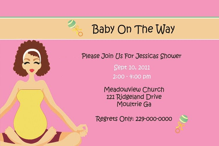 Baby Shower Invitation Cards Sample Party Ideas