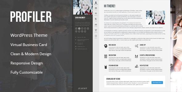 Virtuelle Visitenkarte Modernes Design Responsives