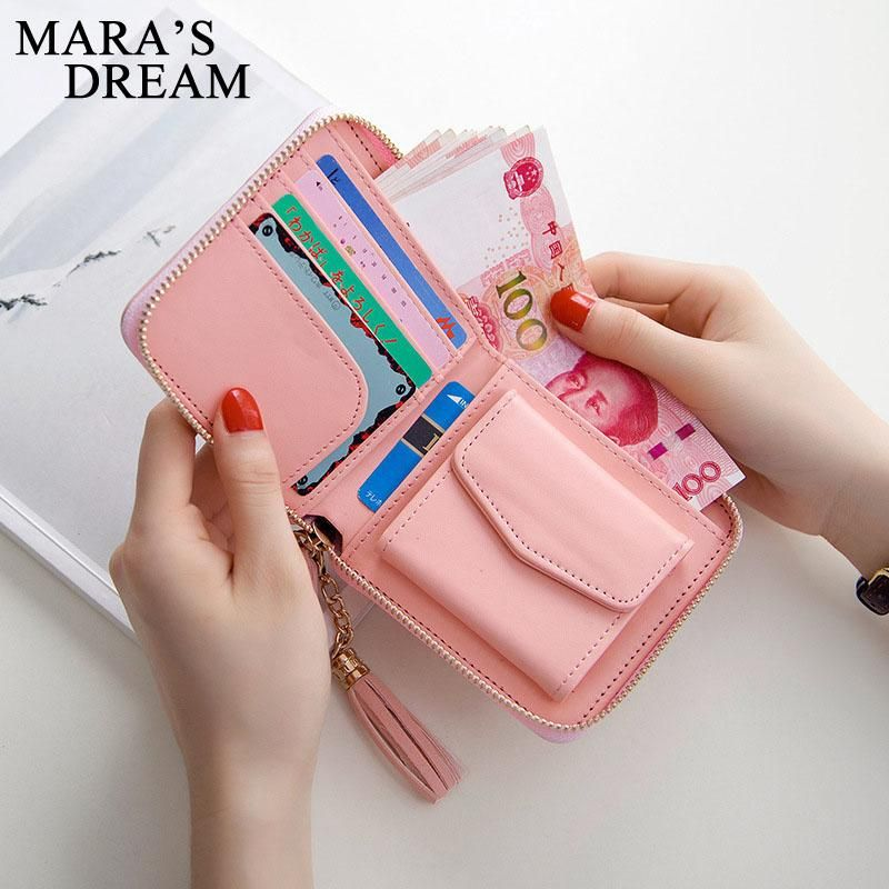 168c2ba48b7 Mara's Dream 2017 Korean Style Cute PU Leather Slim Mini Zipper ...