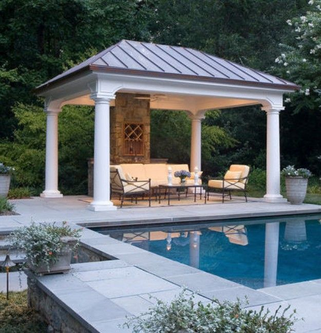 Square gazebo plans gazebo plans pergolas and backyard for Pool pavilion plans