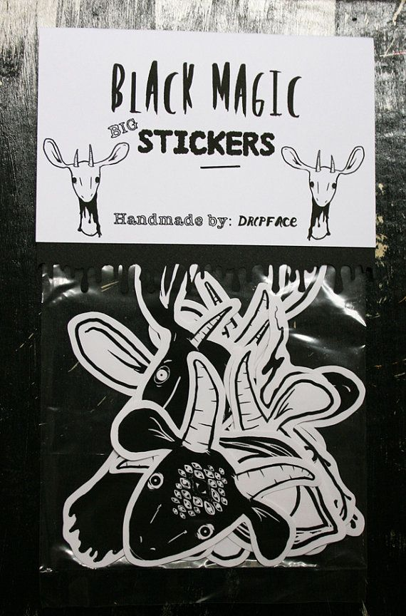 Black magic goats big sticker pack by dripface on etsy 5 50