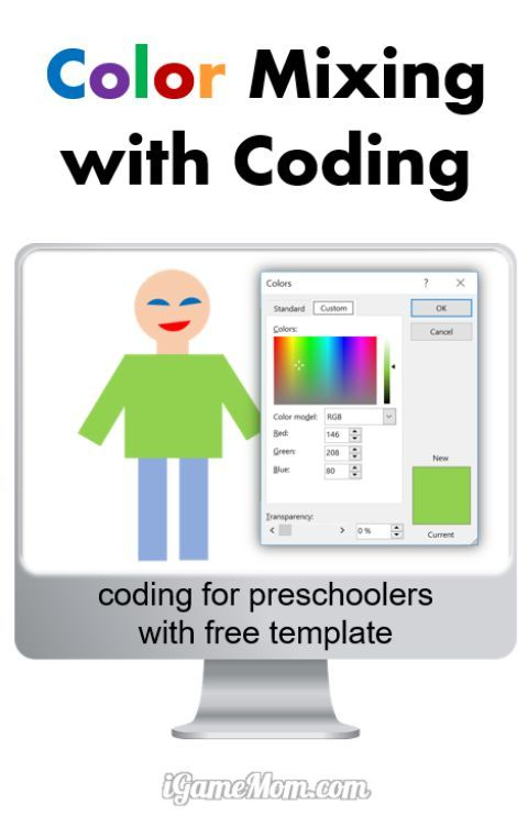 Color Mixing with Coding for Preschool Kids | Kids learning ...