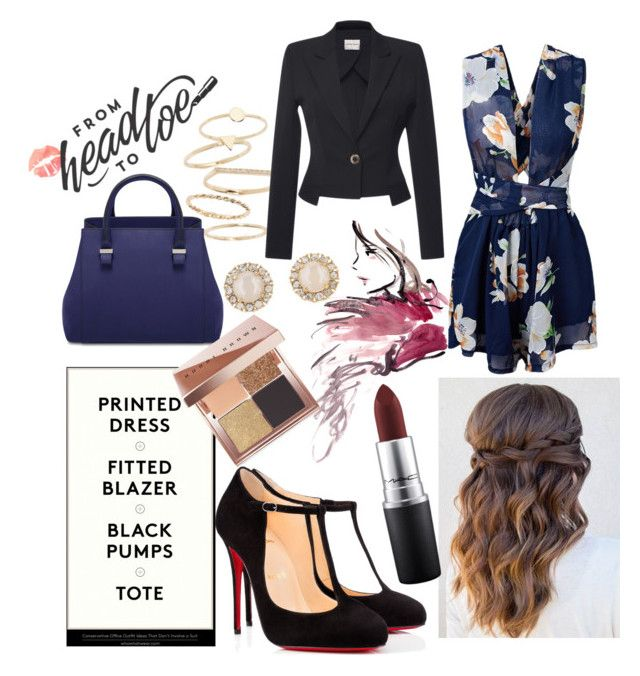"""""""working 9 to 5 x"""" by caitlinleanne48 ❤ liked on Polyvore featuring BP., Christian Louboutin, Emanuel Ungaro, MAC Cosmetics, Bobbi Brown Cosmetics and Kate Spade"""