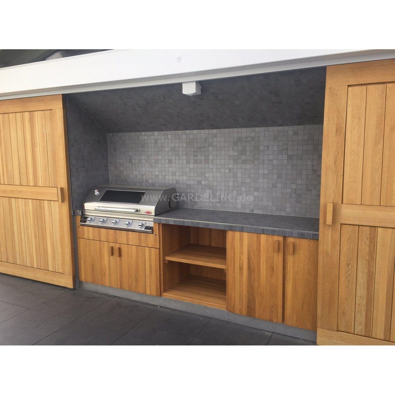 Idee: Individuelle und moderne Design Outdoorküche aus Holz mit ...
