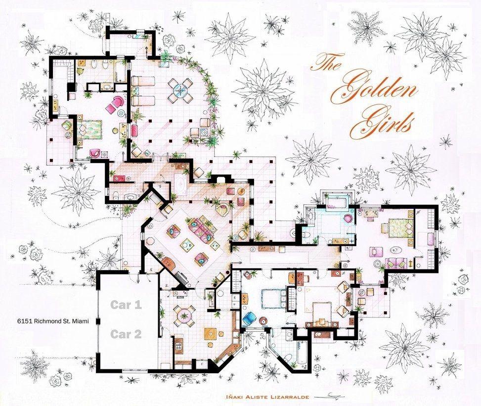 12 plans au sol des maisons de vos s ries t l pr f r es for Concevez vos plans de maison