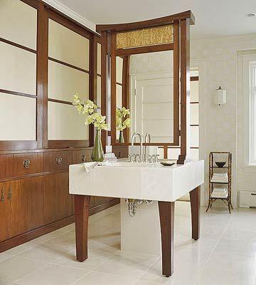 Bathroom Vanity Island