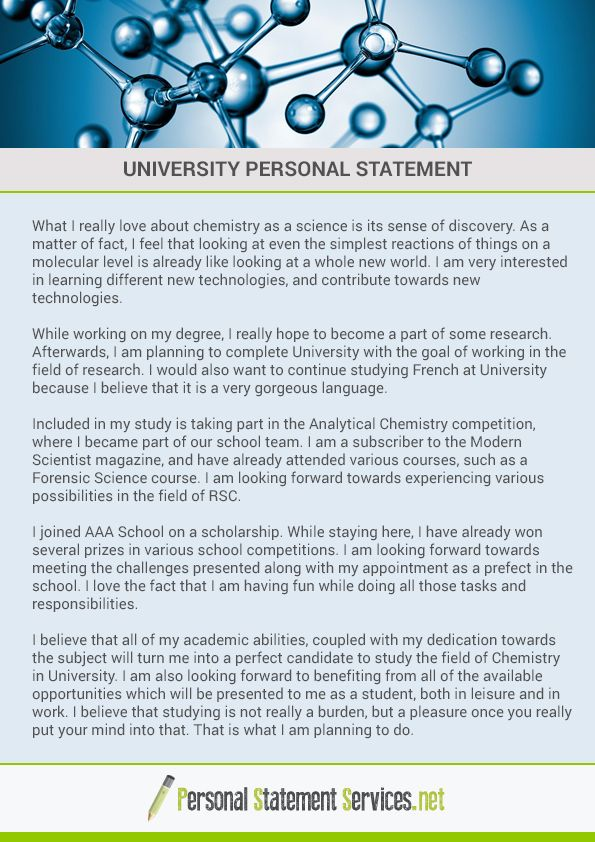Pin by Personal Statement Examples on University personal statement ...
