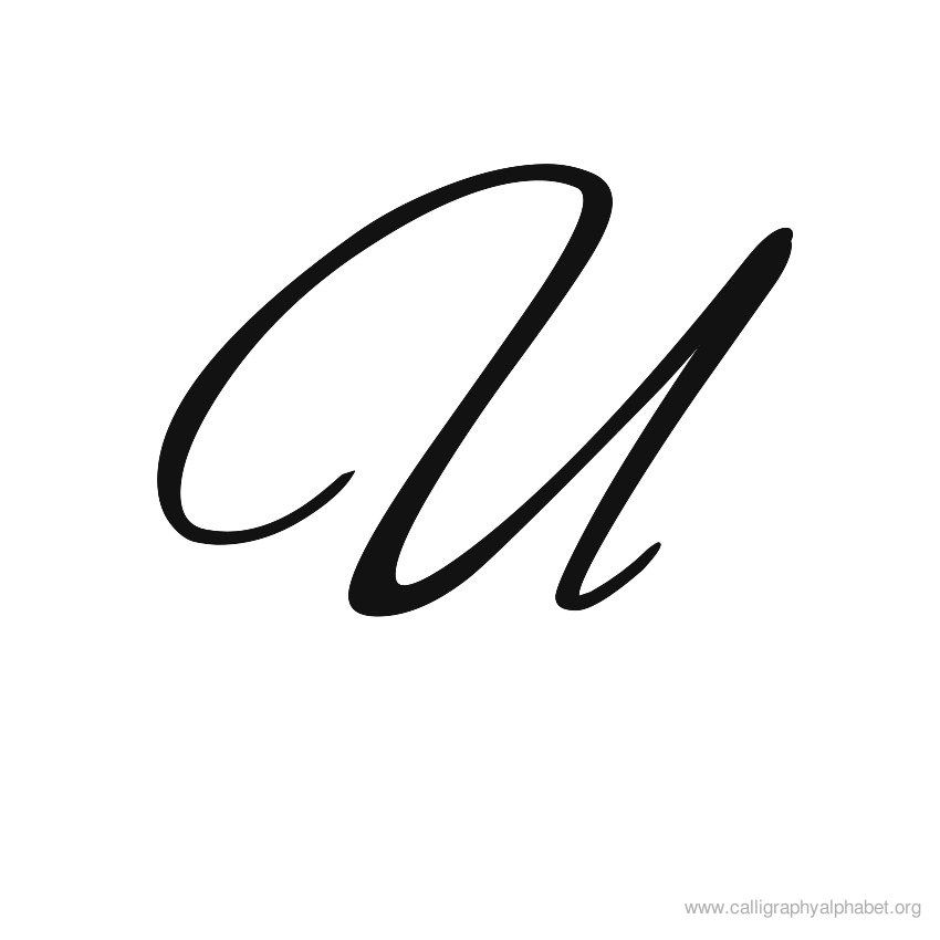 Calligraphy Alphabets U Kalligrafie Pinterest