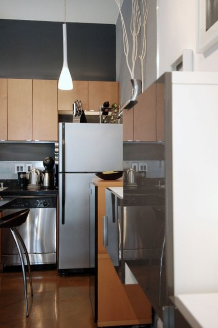 Modern Studio Apartment  Kitchen Detail Freespace Design  The Entrancing Kitchen Design For Flats Inspiration