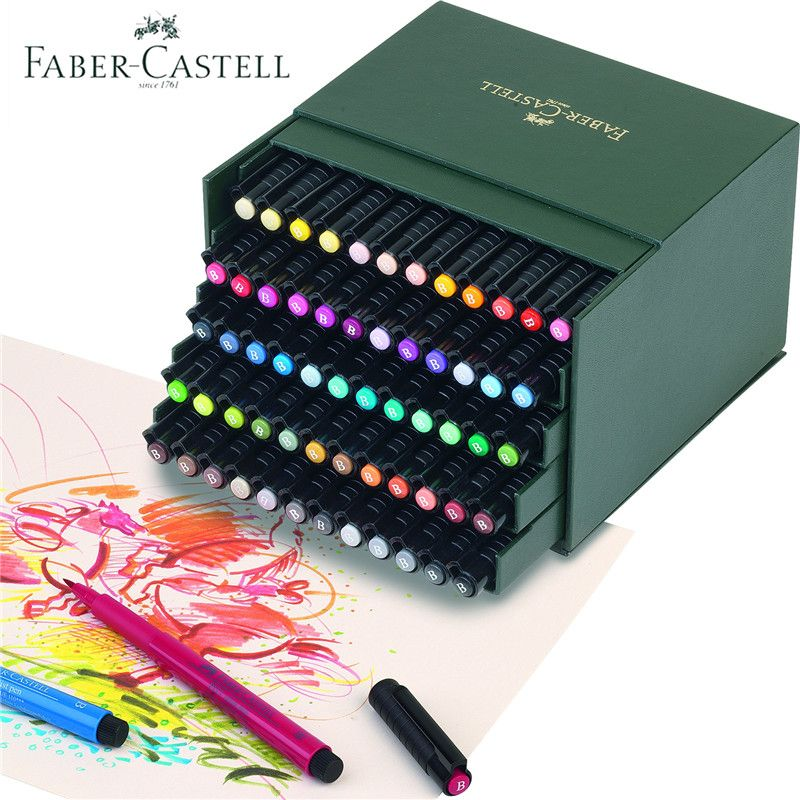 Faber Castell 12 24 48 60 Colors Soft Brush Markers Watercolor