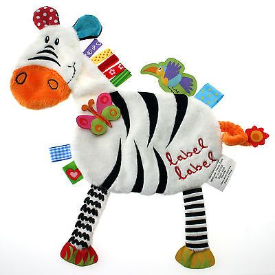 NEW. Label Label Taggy/Tag Blanket, Baby Comforter, Zebra.