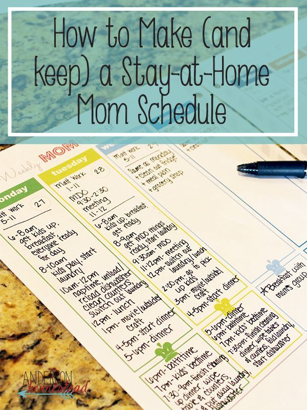Making (and keeping) a Stay-at-Home Mom Schedule,  Making (and keeping) a Stay-at-Home Mom Schedule,