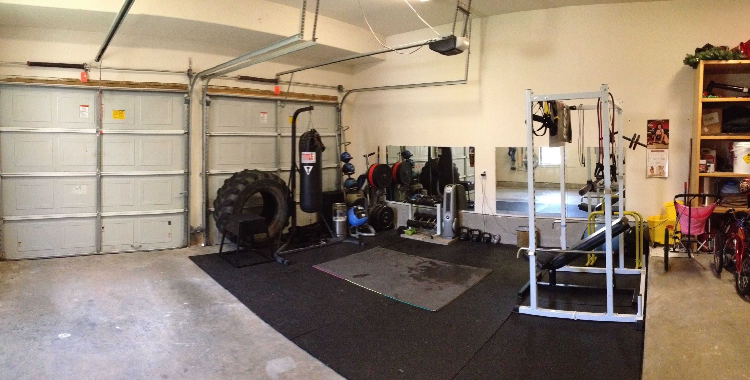 Garage Gym With Car My Badass Garage Gym Fitness Home Gym Garage Garage Gym At