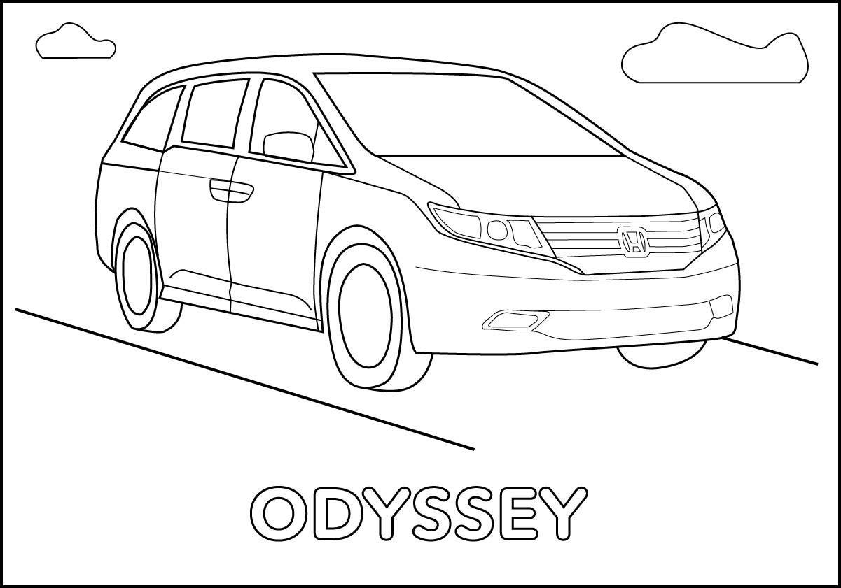 Honda Odyssey Coloring Page Honda Fun For Kids Pinterest