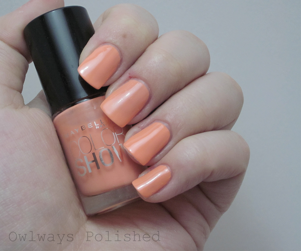 Maybelline Color Show Pretty In Peach Owlways Polished