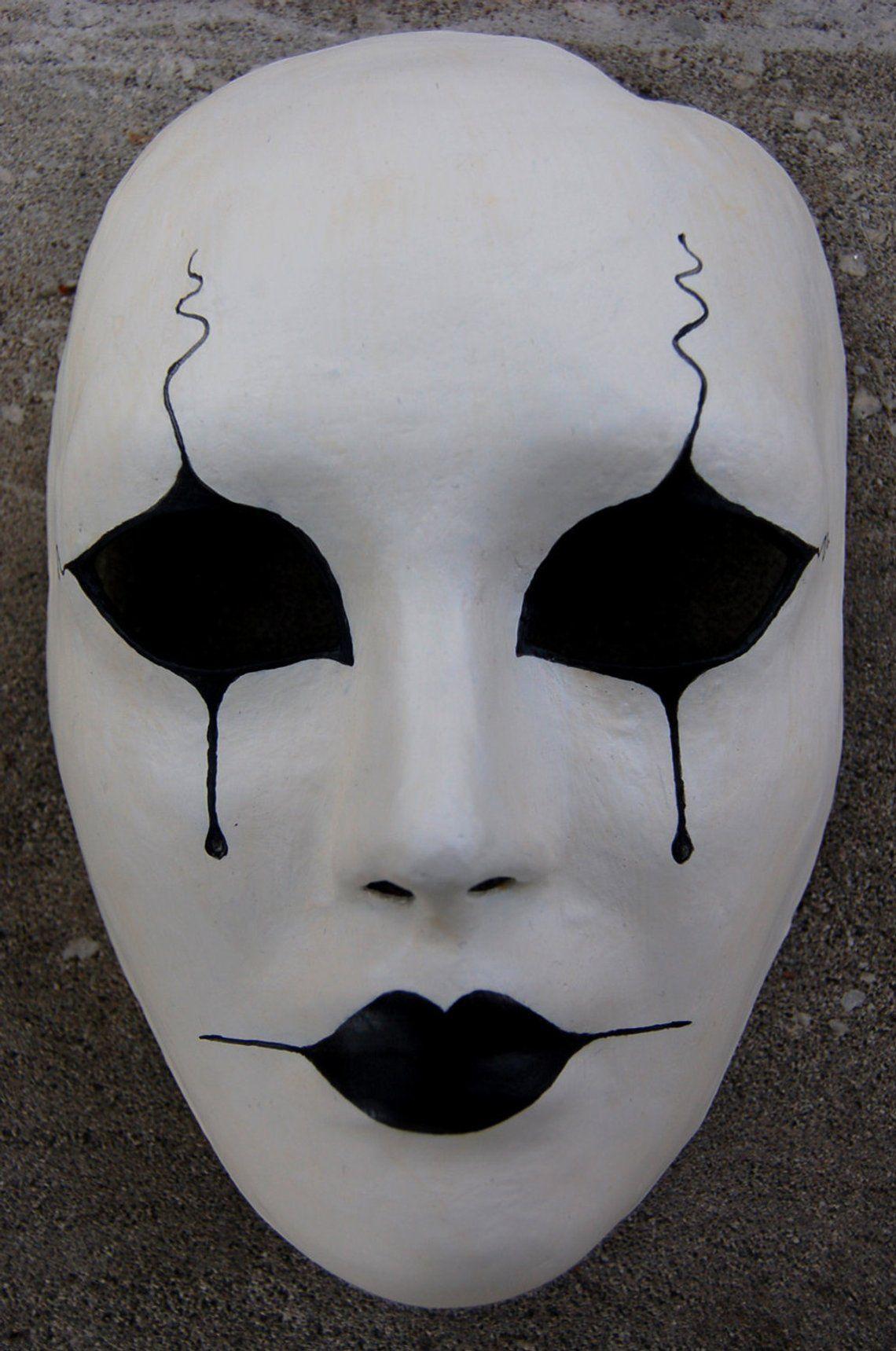 Pierrot Masquerade Mask Etsy Carnival Masks Mask Drawing