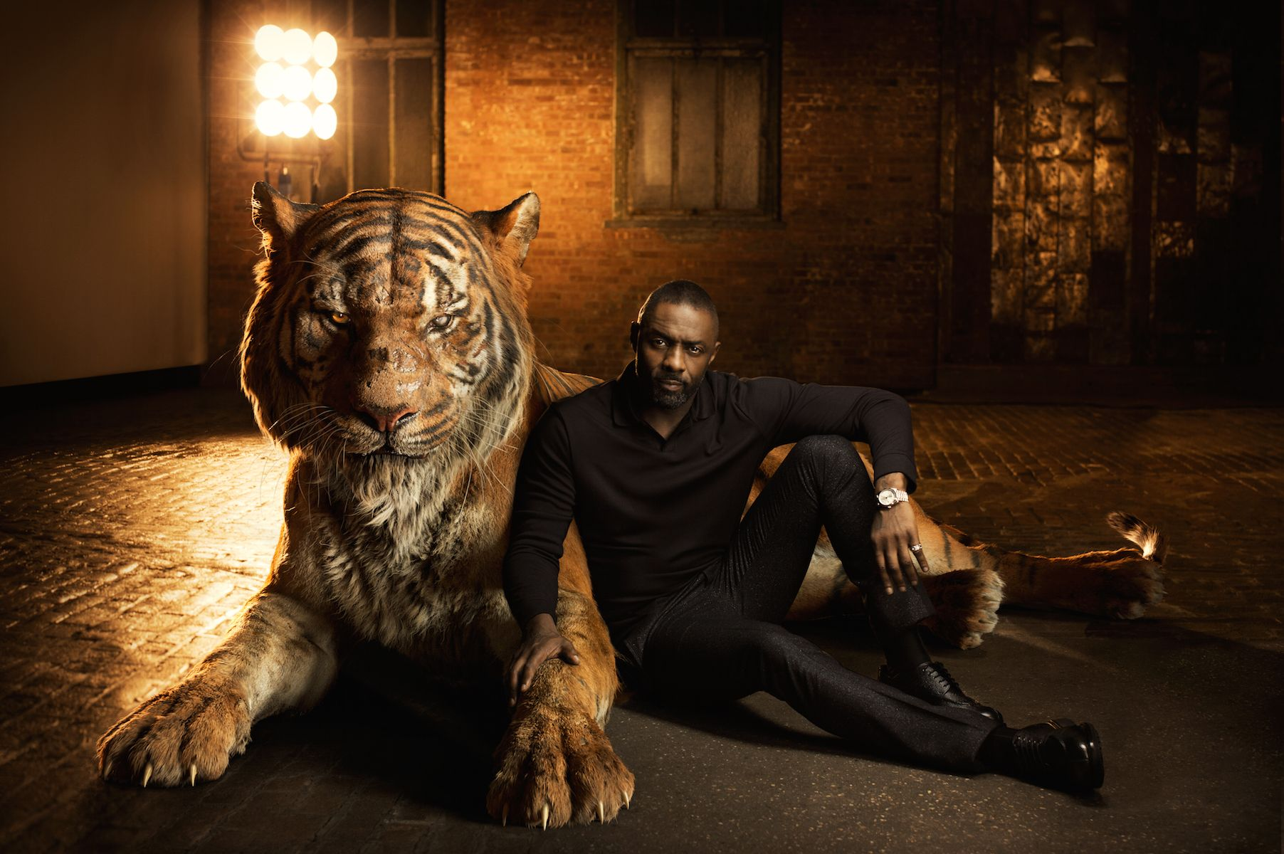 This photoshoot of the jungle book cast with their animal counterparts is equal parts eerie and cool