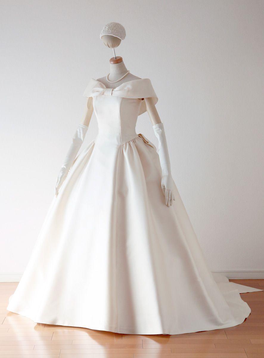 肩ありドレスの表 ドレス ガウン