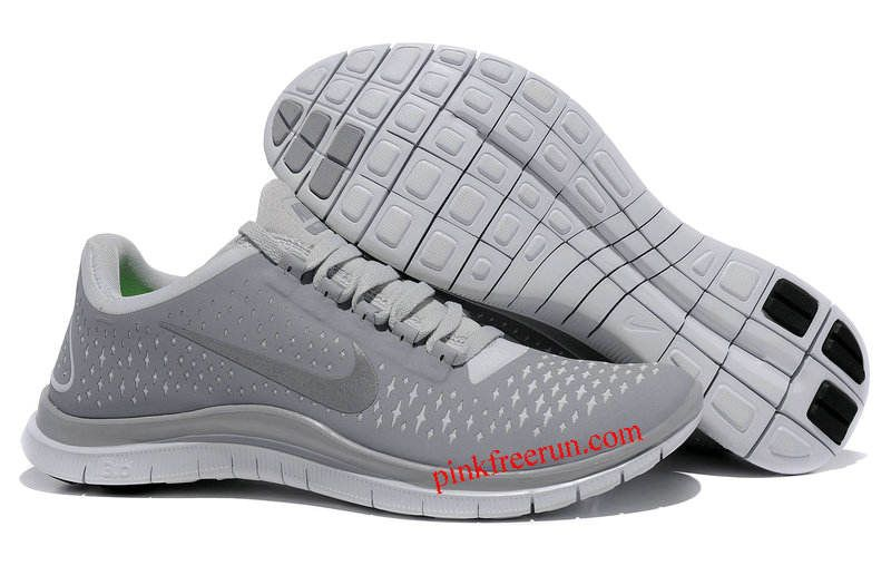 low cost f107b 40a1e Wolf Grey Reflective Silver Pure Platinum Nike Free 3.0 V4 Men s Running  Shoes  Pink Free
