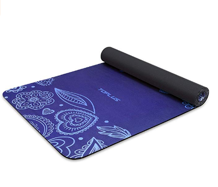Toplus Yoga Mat Non Slip Yoga Mat Eco Friendly Exercise Workout Mat With Carrying Strap For Yoga Pilates And Floor Exercises 1 4 Health Products Packaging