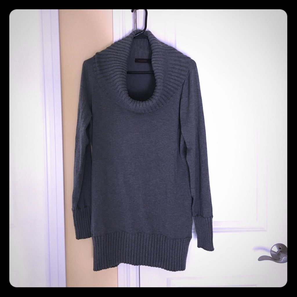 c1c74b0d8a The Limited Cowl Neck Sweater Dress Gray Large
