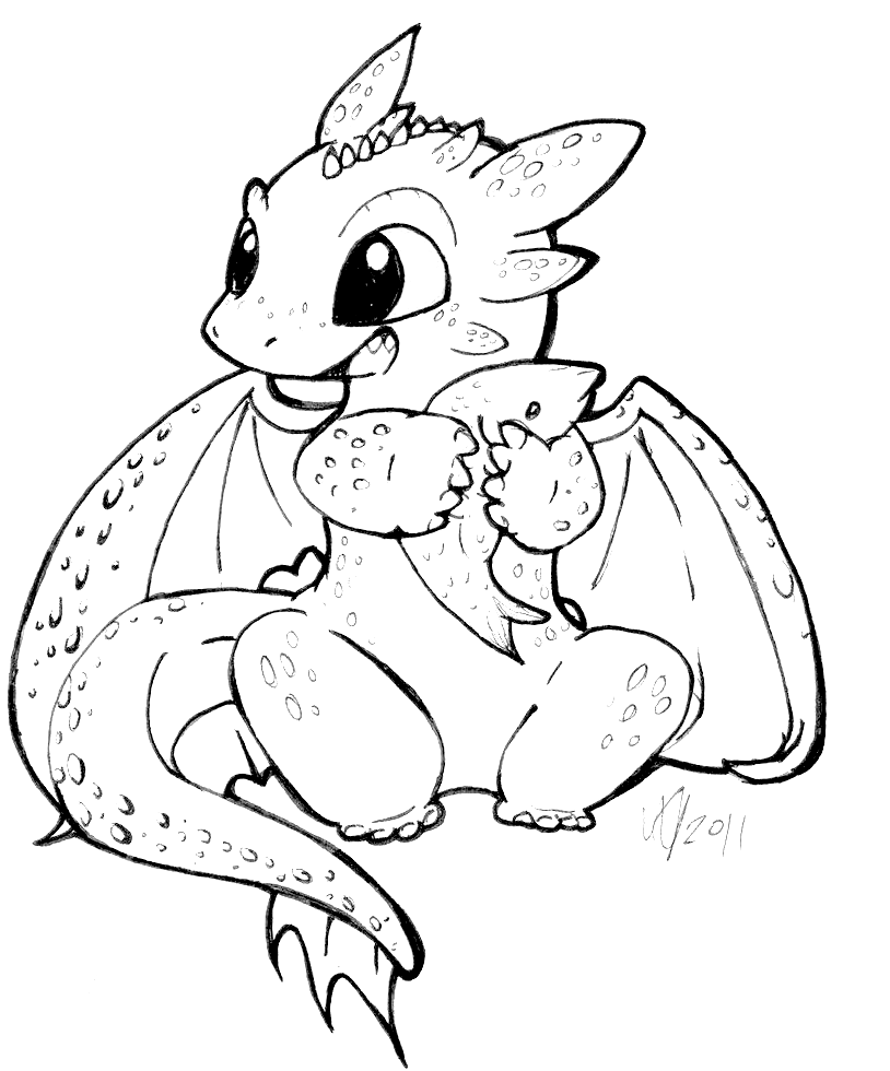 Toothless as a baby   Dragon coloring page, Unicorn ...