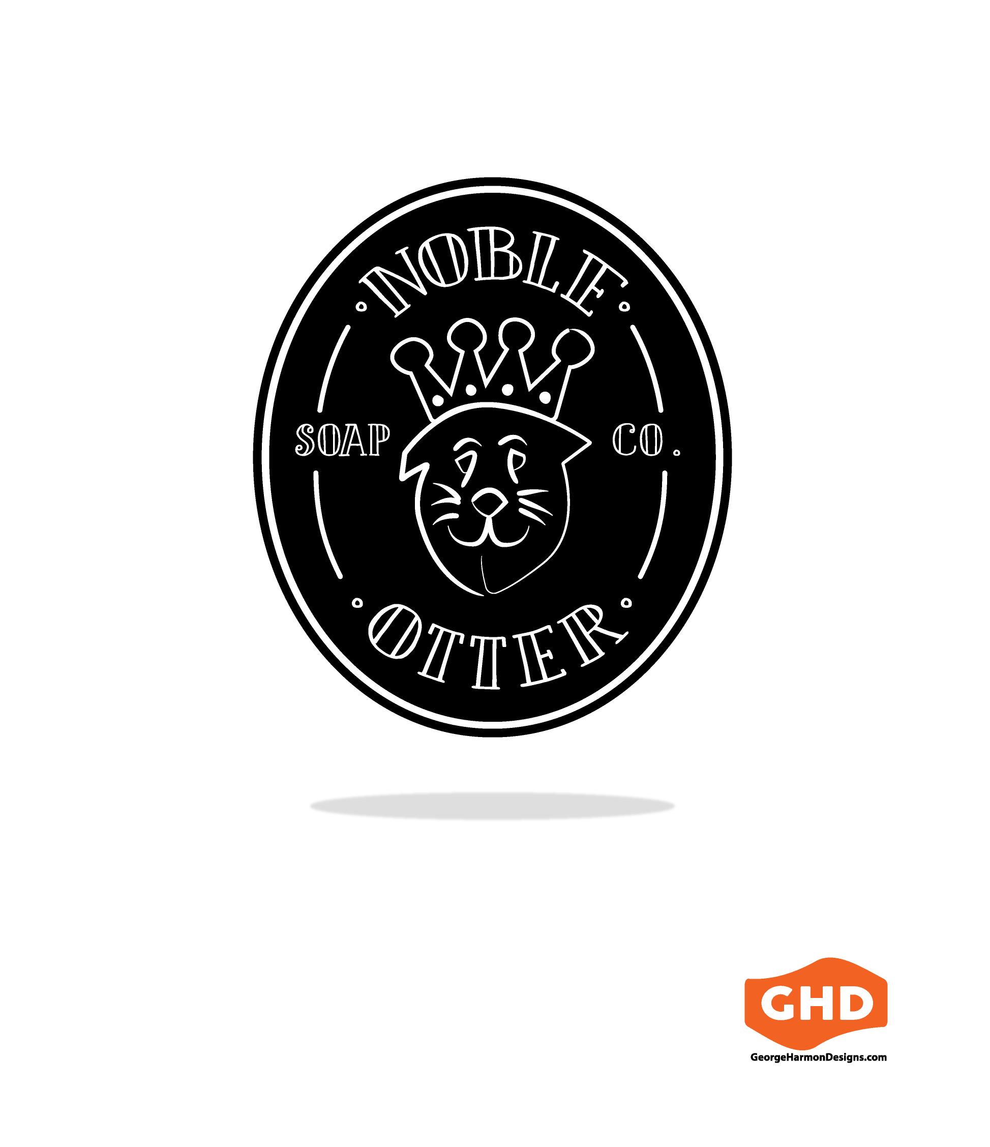 Noble Otter Soap Co. Logo. Design portfolio site