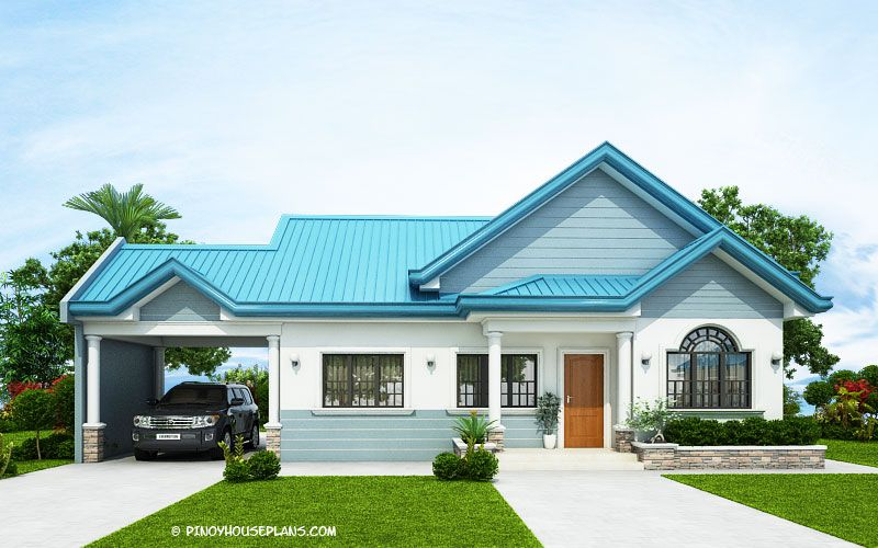 The Blue House Design With 3 Bedrooms Pinoy House Plans Modern Bungalow House Beautiful House Plans Architectural House Plans