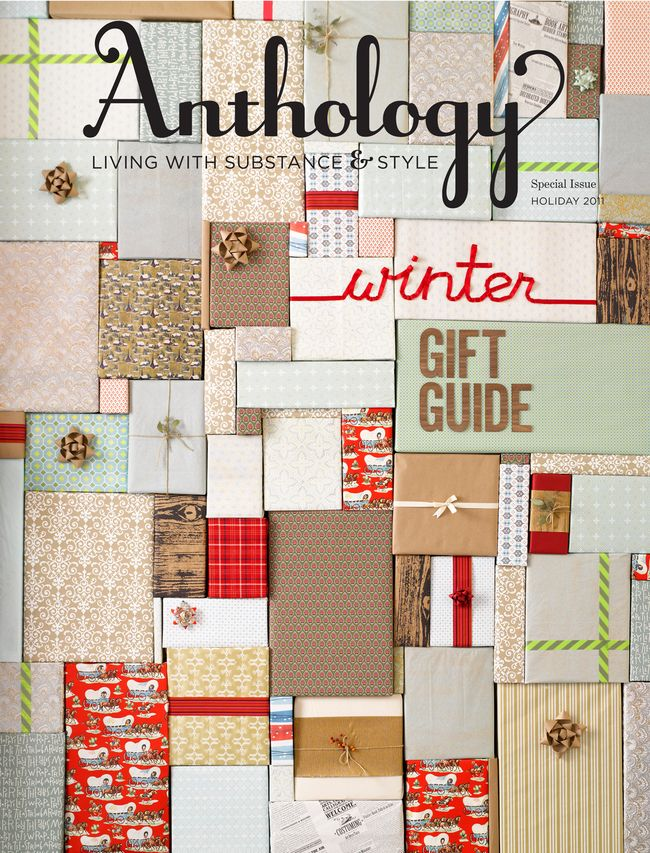Weihnachtsgeschenke Guide.Anthology Gift Guide Cover Editorial Design Pinterest